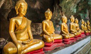 29 JANVIER : Luang Prabang. Promenade en bateau au Mékong. Visite des jardins botaniques Pha Tad Ke et de Pak Ou. Arrêt à Done Khoun avec le visite du Wat Done Khoun.