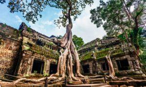 4 FEVRIER : Siem Reap  Lever du soleil à Angkor Wat. Un trajet jusqu'à Roluos, inclut Bakong, Lolei et Preah Ko. Une promenade en bateau privé sur le Tonle Sap à Kampong Phluk.